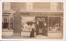 Grasby between Caistor & Brigg. Ward's Stores Shop. Grocer & Draper.