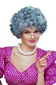 Brand New Old Lady Grandmother Mom Grey Wig