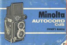 Minolta Autocord CdS Instruction Manual Original