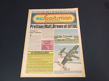 VERY COLLECTIBLE JANUARY 1978 R/C SPORTSMAN NEWS MAGAZINE W/PLANE PLANS *G-COND*