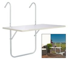Balkontisch Balkonhängetisch Balkon Hängetisch Tisch weiß klappbar 60 x 40 cm