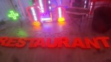 Enseigne Lumineuse LED RESTAURANT lettres boitier couleur