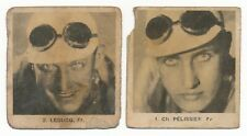 2 1937 Globo Geants CYCLING CARDS Pelissier & Andre Leducq Bicycle Racing Route