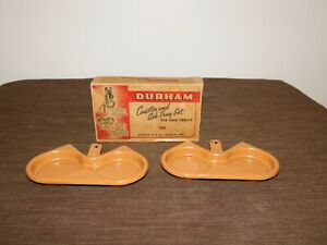 VINTAGE TOBACCO DURHAM COASTER & ASH TRAY SET FOR CARD TABLES in BOX
