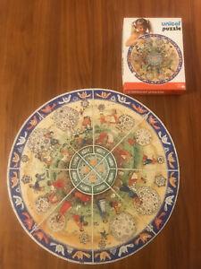 Unicef Puzzle white box Round 200 pieces Vintage