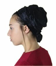 Sinar Tichel Scarves Head Wrap Hair Covering Jewish Headcovering Bandana Black