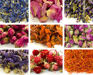 Edible Dried Flowers Petals, 62 Types! Tea, Coctail Garnishes, Cooking Craft