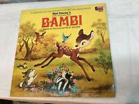 1969 Walt Disney Children's Story & Songs LP - BAMBI  Disneyland Records w/ Book