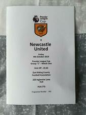 HULL CITY v NEWCASTLE UNITED 04.10.19  PREMIER LEAGUE CUP PROGRAMME