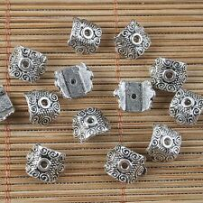 40pcs antiqued silver pattern bead caps G1663