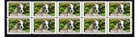 ENGLISH BULLDOG STRIP OF 10 MINT VIGNETTE STAMPS #4
