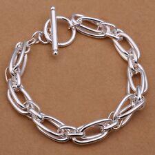 Fashion 925Sterling Solid Silver Jewelry Grape Chain Bracelet For Women Men H320