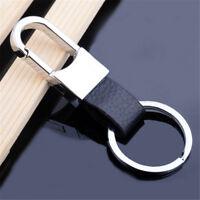 Metal Leather Waist Hanging Keychain Keyring Key Ring Chain Men Key gifts