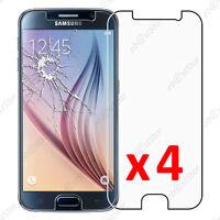 Lot 4 Film protection VERRE Trempé Vitre anti casse Samsung Galaxy S6 G920F