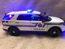 1/18 SCALE DIECAST ALBERTA CANADA  SHERIFF FORD SUV W/WORKING LIGHTS AND SIREN