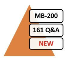 Updated MB-200 Exam 161 Q&A PDF Only!