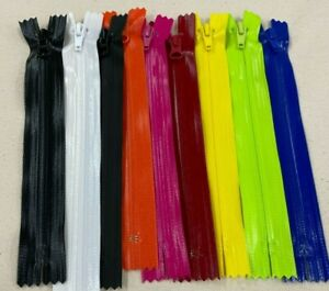 YKK NO5 NYLON AQUAGUARD- Waterproof ZIP, 20cm C/E (COIL ZIPPER)- Various Colours