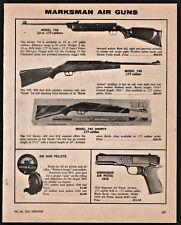 1975 MARKSMAN 746, 740, 742 Shorty Rifle, 1010  Pistol Air Gun AD