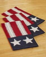 STAR SPANGLED AMERICANA HOME DECOR`SET OF 3 HAND TOWELS INDOOR KITCHEN HOMEDECOR