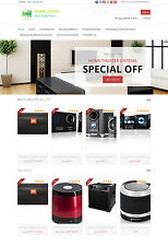 Home Audio Systems Store - Turnkey Amazon Affiliate Website + Shopping Cart