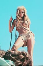 Raquel Welch One Million Years B.C 11x17 Poster Holding Spear Stands Over Man