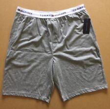 TOMMY HILFIGER Sleep Shorts -Size XL - Grey Logo Pj's - BNWT