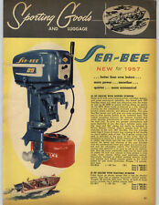 1957 PAPER AD 2 Sided COLOR Sea Bee 25 12 5 HP Outboard Motor Deluxe