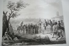 NAPOLEON CAPITULATION DE MAGDEBOURG GRAVURE 1838 VERSAILLES R1116 IN FOLIO