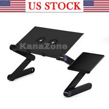 Emporiumz® Ergonomic Desk Adjustable Aluminum Laptop Desk Portable Bed Lap desk