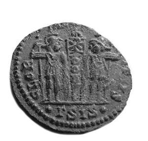 ANCIENT ROMAN COIN - CONSTANTINE II. 316-340AD -GLORIA INEXERCITUS  #259 i