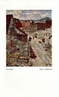 Gasse im Albstädtchen Kunstdruck 1919 Paul Rehm * in Reutlingen Schwäbische Alb