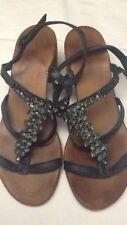CRISTIN - Sandali - scarpe da donna - colore nero con perline - N° 37 - USATI