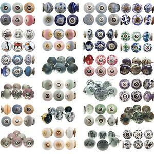 6 Pack Ceramic Door Knobs 40+ DESIGNS Drawer Handles Set MULTI PACK Cupboard