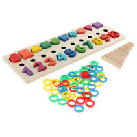 Stacking Rings Tower Numbers Counting Learning Kids Arithmetical Wooden Toy