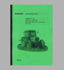 Fendt Farmer 308 Turbo LS/LSA  Betriebsanleitung