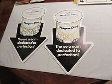 "Haagen-Dazs , Double Sided , Advertising Sign , 17 1/2"" X 11 1/2"" , Lot of 2"