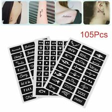 India Henna Temporary Tattoo Stencils Kit for Hand Arm Leg Feet Body Art Decal Q