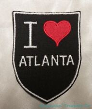 Embroidered Retro Vintage Style I Love Atlanta GA Georgia State Patch Iron On