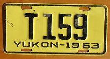 Yukon 1963 License Plate # T159