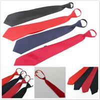 Mens Pre-tied Adjustable Zipper Tie Lazy Zip Necktie Business Wedding Party WL