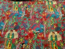 "FAB FRIDA KHALO PRINT COTTON FABRIC - CRAFT QUILTING 44""- PER METRE"