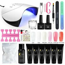 Poly Gel Nail Kit With 36W Lamp All For Manicure Nail Art Decorations Tool Set