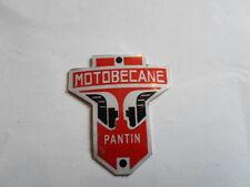 Typenschild Schild Motobecane Pantin Mofa Moped moto plaque du constructeur s29