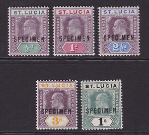St Lucia. 1902-03. SG 58s-62s, 1/2d to 1/- specimens. Fine mint.