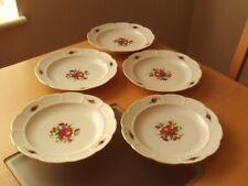 Vintage Rosenthal X5 FRUITS/DESSERT Fine Porcelaine Plaque tressés Panier Effet ...