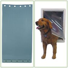 Super Large Single Ruff Weather Replacement Flap Pet Door Flexible Clear Plastic