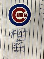 Fergie Jenkins Signed Jersey Baseball Autograph Chi Cubs HOF 91 JSA COA STATS