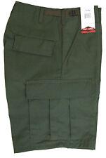BDU Cotton Cargo Shorts - Zipper Fly - Army Style Camo by TRU-SPEC - OLIVE GREEN