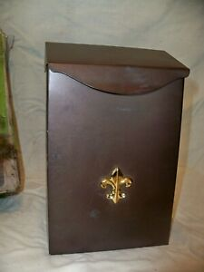 GIBRALTAR Classic Wall-Mount Post Door Mail Box Galvanized Steel Bronze Mailbox