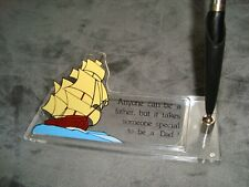 Vintage Acrylic Desk Set - father's day - dad - Pen